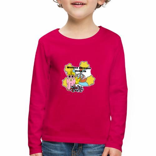 Merveilleuse Licorne née (pour fille) - T-shirt manches longues Premium Enfant