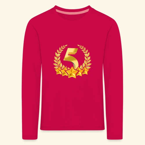 Fünf-Stern 5 sterne - Kinder Premium Langarmshirt
