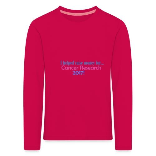 CANCER RESEARCH 2017! - Kids' Premium Longsleeve Shirt