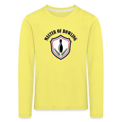 Master Of Bowling - T-shirt manches longues Premium Enfant
