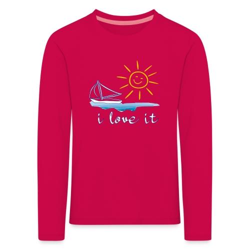 Segeln, Urlaub, Sommer - Kinder Premium Langarmshirt