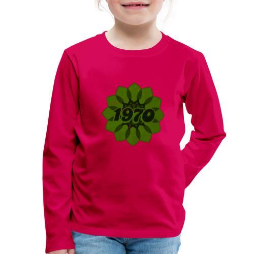 1970 retro flower - Kinder Premium Langarmshirt