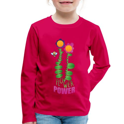 BLUMENLEISTUNG - Kinder Premium Langarmshirt