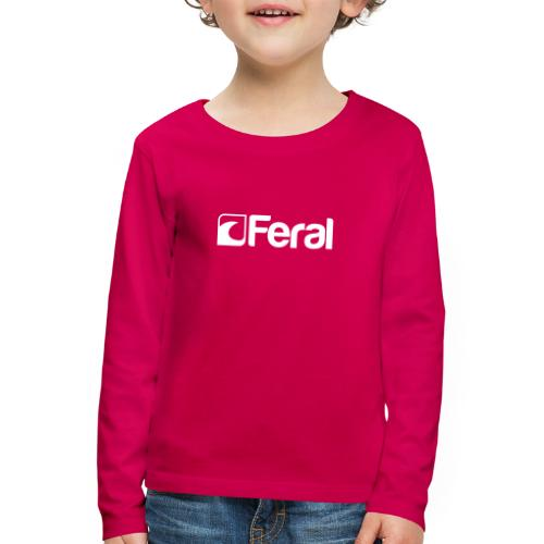 Feral White Breast - Kids' Premium Longsleeve Shirt