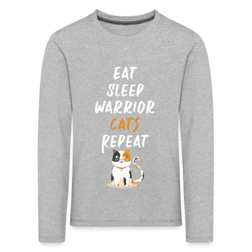 Eat sleep warrior cats repeat - T-shirt manches longues Premium Enfant