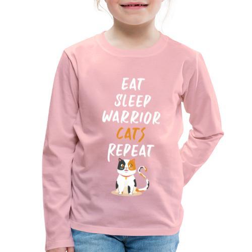 Eat sleep warrior cats repeat - T-shirt manches longues Premium Enfant