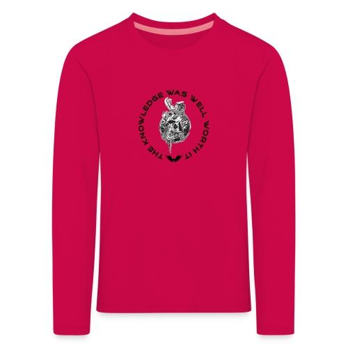 Knowledge WhiteSkull - Lasten premium pitkähihainen t-paita