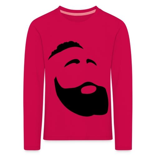 Il Barba, the Beard black - Maglietta Premium a manica lunga per bambini