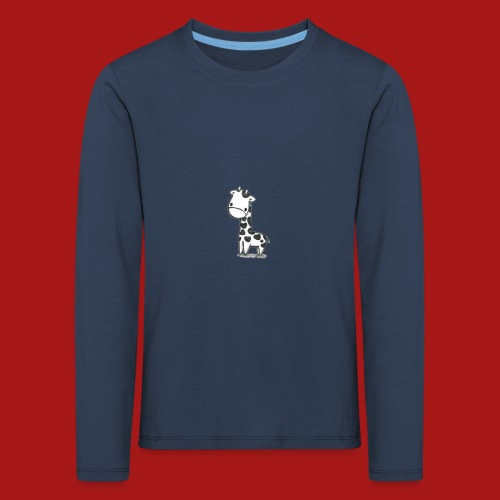 CuteBaby Giraf - Børne premium T-shirt med lange ærmer