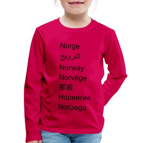 FN-Norge - plagget.no - Premium langermet T-skjorte for barn