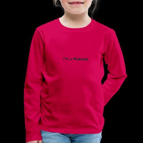 im a princess schwarz - Maglietta Premium a manica lunga per bambini