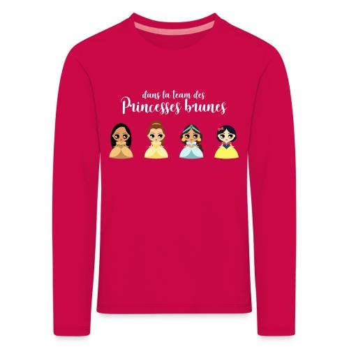 Team princesses brunes - T-shirt manches longues Premium Enfant