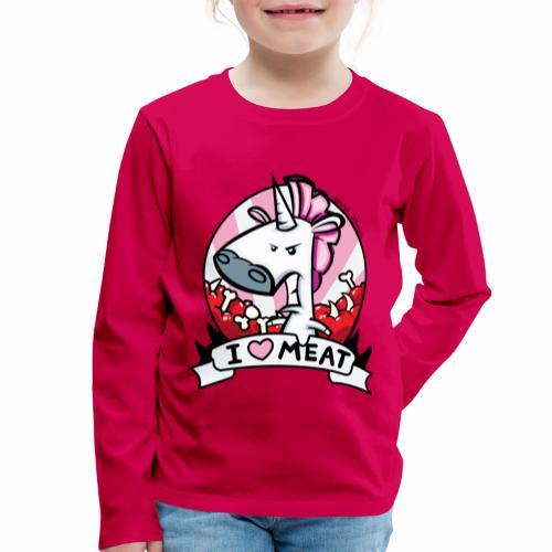 I love Meat by Nina-Nice - Kinder Premium Langarmshirt