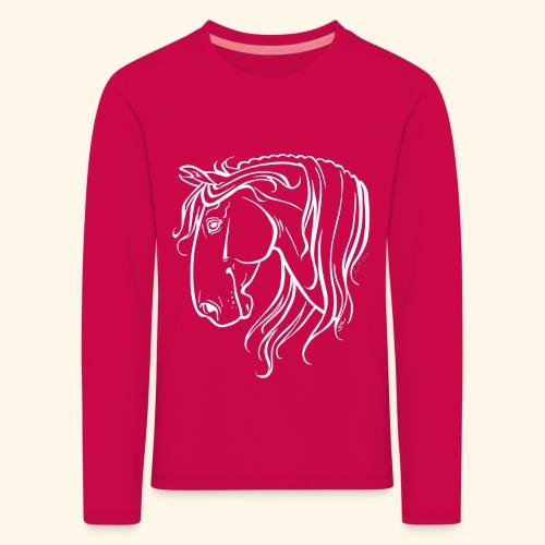 Cheval espagnol (blanc) - T-shirt manches longues Premium Enfant