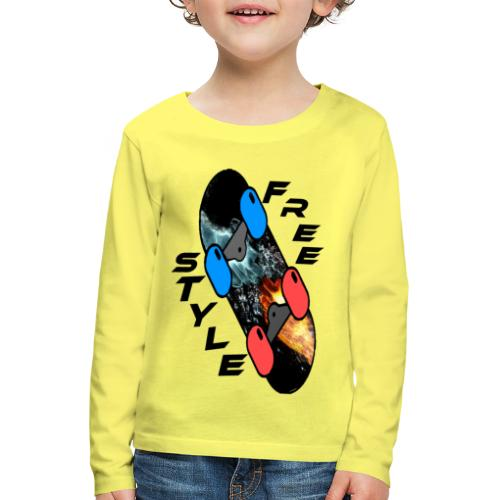 Skateboard Freestyle - Kinder Premium Langarmshirt