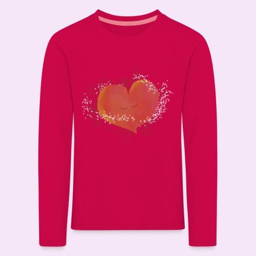 Blozend hartje kinder baby shirt - Kinderen Premium shirt met lange mouwen