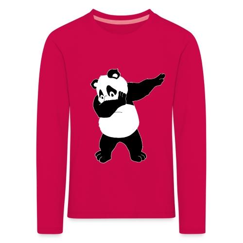 Dabbing Panda Bär - Kinder Premium Langarmshirt