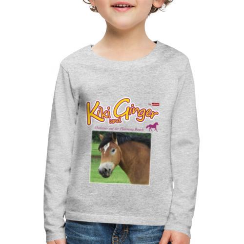patame Kiki und Ginger mit Golden Sky weiss - Kinder Premium Langarmshirt