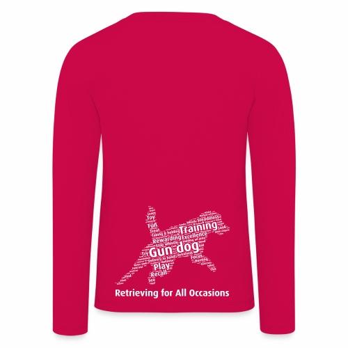Retrieving for All Occasions wordcloud vitt - Långärmad premium-T-shirt barn