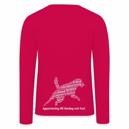 Apportering till vardag och fest wordcloud vitt - Långärmad premium-T-shirt barn
