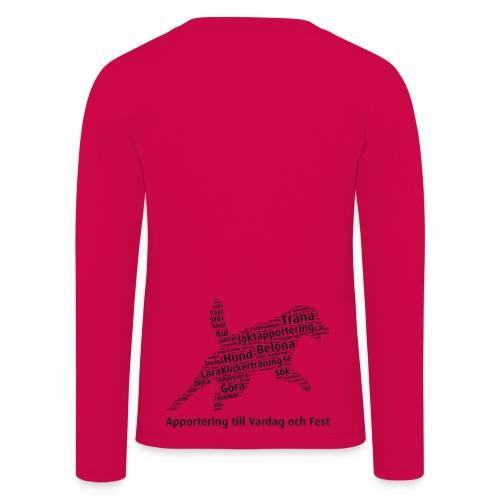 Apportering till vardag och fest wordcloud svart - Långärmad premium-T-shirt barn