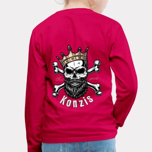 Skull Bones Logo - Kinder Premium Langarmshirt