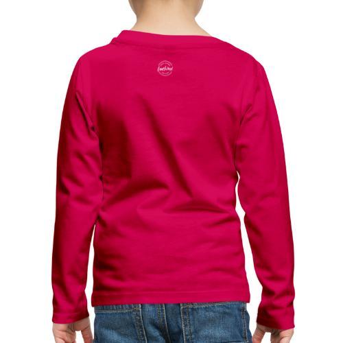 Luckimi logo circle small white back - Kids - Kids' Premium Longsleeve Shirt
