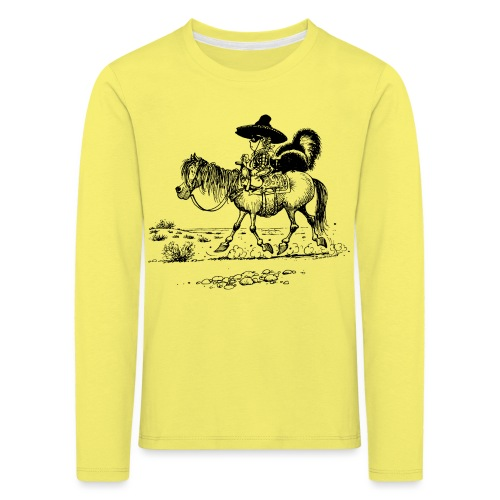 Thelwell 'Cowboy with a skunk' - Kids' Premium Longsleeve Shirt