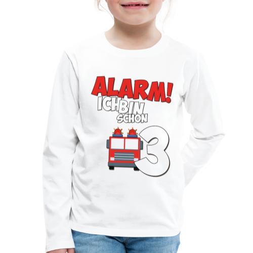 Feuerwehrauto 3. Geburtstag Jungen 3 Jahre - Kinder Premium Langarmshirt