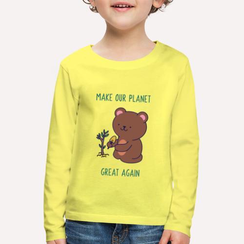 Caring About Climate Change? Trees T-Shirt Print - Kids' Premium Longsleeve Shirt