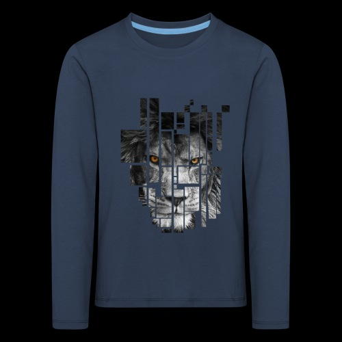 Pixel Lion Tattoo Inspire - Kids' Premium Longsleeve Shirt