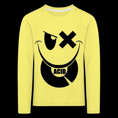 smiley acid techno vinyl - Kids' Premium Longsleeve Shirt