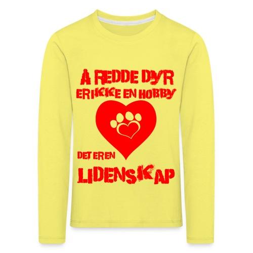 å redde dyr - Premium langermet T-skjorte for barn