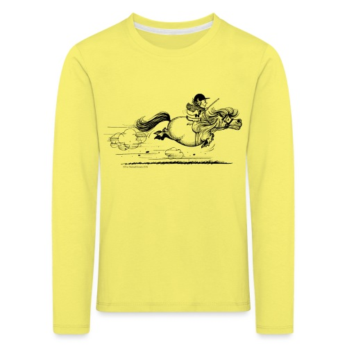PonySprint Thelwell Cartoon - Kids' Premium Longsleeve Shirt