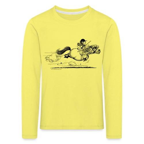 Thelwell Cartoon Pony Sprint - Kinder Premium Langarmshirt