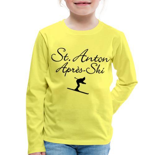 St. Anton Après-Ski Skifahrer - Kinder Premium Langarmshirt