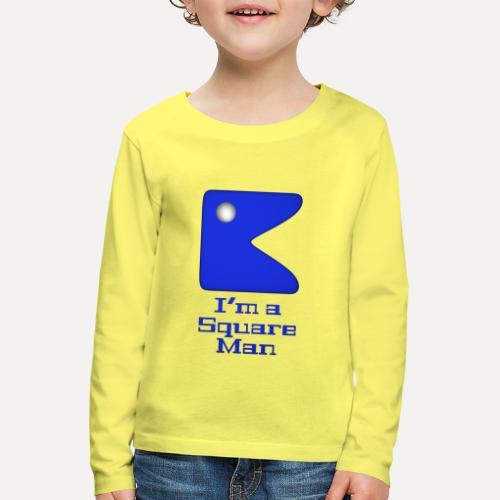 Square man blue - Kids' Premium Longsleeve Shirt