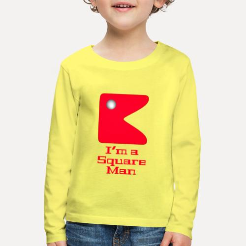 Square man red - Kids' Premium Longsleeve Shirt