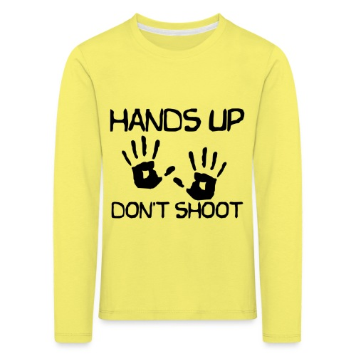Hands Up Don't Shoot (Black Lives Matter) - Kinderen Premium shirt met lange mouwen