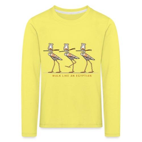 Reiher mit Krone I ÄGYPTEN - Kinder Premium Langarmshirt
