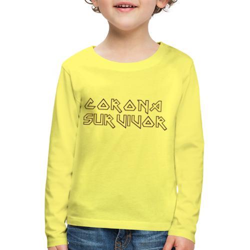 CORONA SURVIVOR COVID-19 SHIRT - Kinderen Premium shirt met lange mouwen