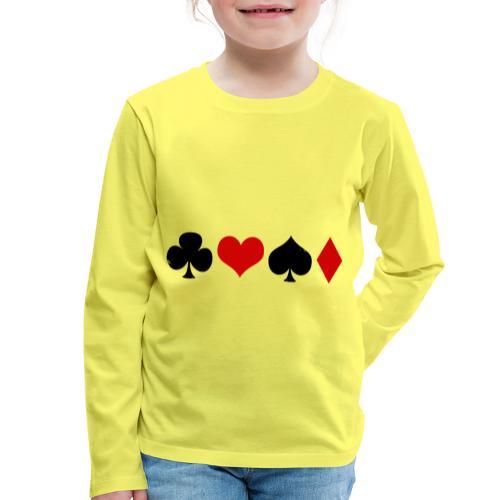 poker2 - T-shirt manches longues Premium Enfant