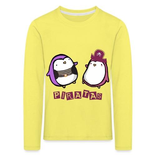 PINGUINOSPIRATAS - Camiseta de manga larga premium niño
