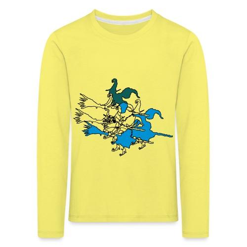 Witches on broomsticks Men's T-Shirt - Kids' Premium Longsleeve Shirt