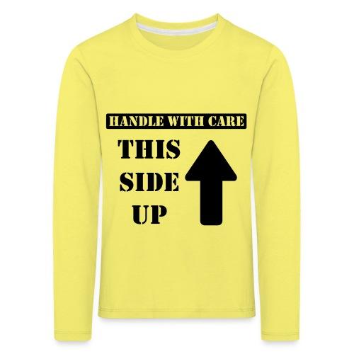 Handle with care / This side up - PrintShirt.at - Kinder Premium Langarmshirt