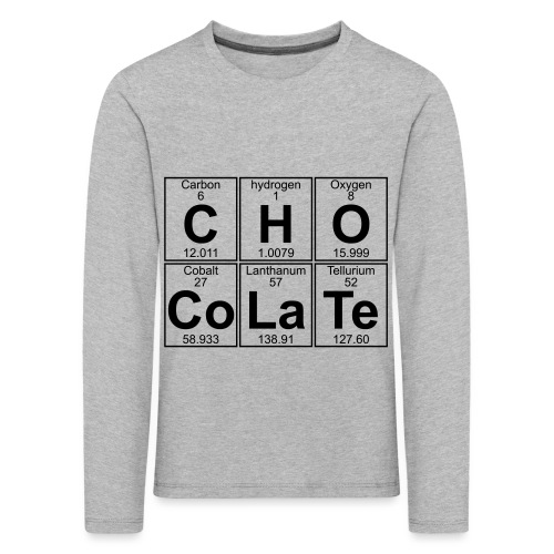 C-H-O-Co-La-Te (chocolate) - Full - Kids' Premium Longsleeve Shirt