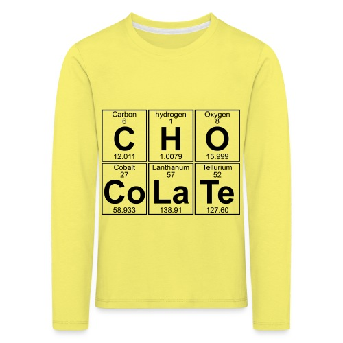 C-H-O-Co-La-Te (chocolate) - Full - Kids' Premium Longsleeve Shirt