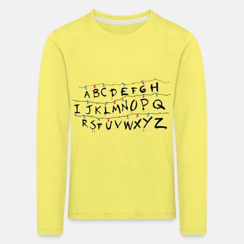 Stranger Things Alphabet - Kinder Premium Langarmshirt