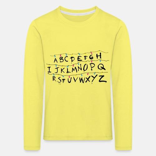 Stranger Things Alphabet Women's T-Shirts - Kids' Premium Longsleeve Shirt