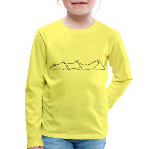 Eiger, Mönch und Jungfrau - Kinder Premium Langarmshirt